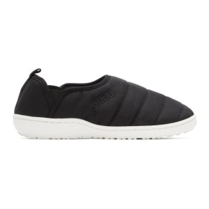 SUBU Black and White Amp Traction Loafers