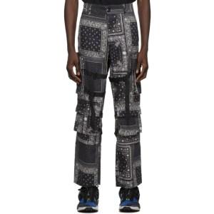 ROGIC Black and White Paisley Cargo Pants
