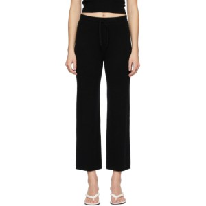 Lisa Yang Black Cashmere The Heather Lounge Pants