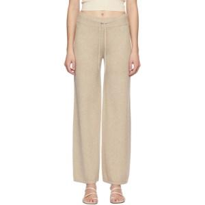 Lisa Yang Beige Cashmere The Sofi Lounge Pants