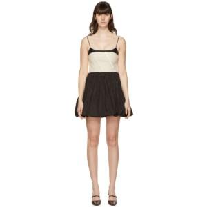 Kijun Black Oblique Mini Dress