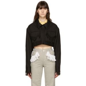 Kijun Black Short Fringe Jacket