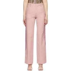 Kijun Pink Block Trousers
