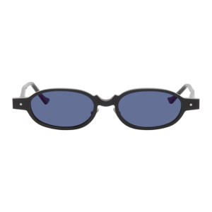Grey Ant Black Wurde Oval Sunglasses