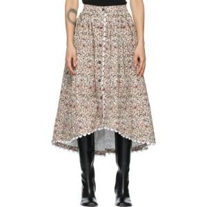Kika Vargas White Iris Mid-Length Skirt