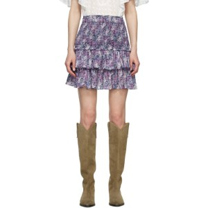 Isabel Marant Etoile Purple Naomi Miniskirt
