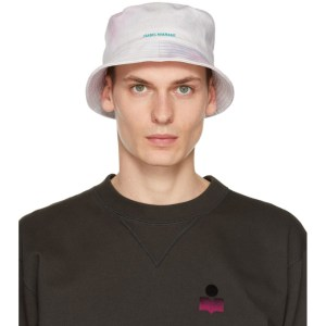 Isabel Marant Pink Tie-Dye Haley Bucket Hat