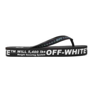 Off-White Black and White Weight Securing System Flip Flop Sandals