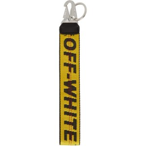 Off-White Yellow Classic Industrial Keychain