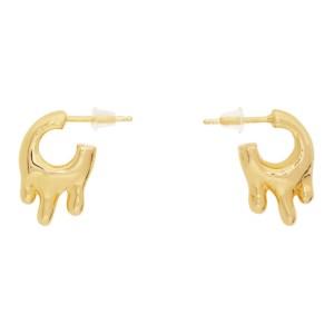 Hannah Jewett Gold Small Wet Look Hoop Earrings