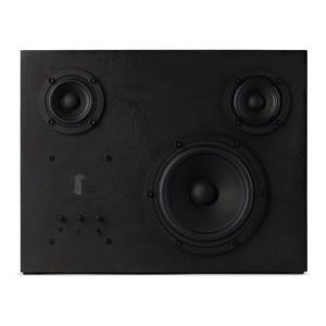 Transparent Black Steel Speaker