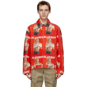 Soulland Red Playboy Edition Corduroy Terry Jacket
