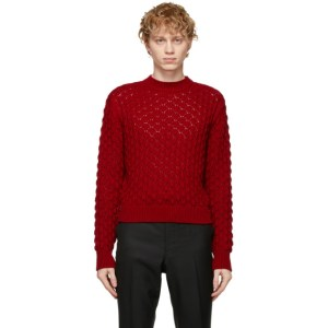 Johnlawrencesullivan Red Cable Knit Sweater