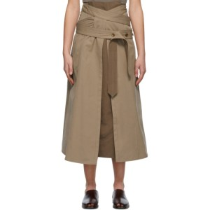Lemaire Brown Trench Skirt