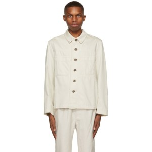 Lemaire Off-White Denim Workwear Jacket