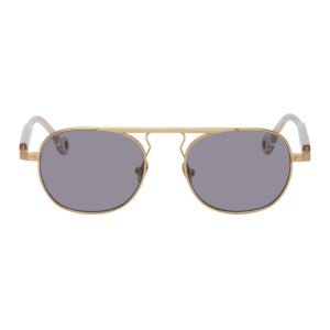Etudes Gold Round Candidate Sunglasses