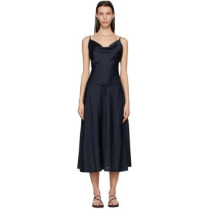 LOW CLASSIC Navy Classic Cowl Dress