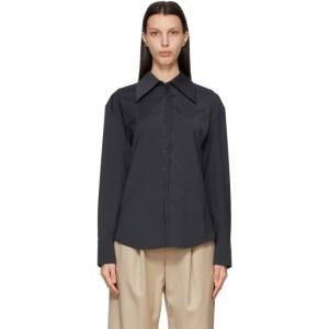 LOW CLASSIC Grey Collar Point Shirt