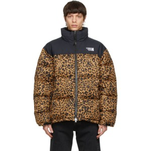 VETEMENTS Black Leopard Limited Edition Puffer Jacket