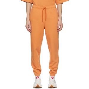 M.A. Martin Asbjorn Orange Logo Track Pants
