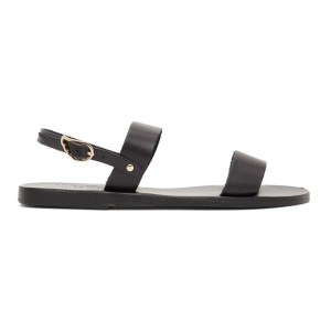 Ancient Greek Sandals Black Clio Sandals