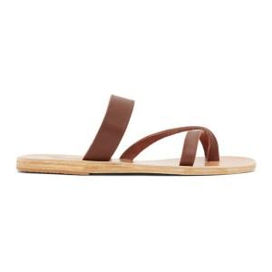 Ancient Greek Sandals Brown Daphnae Sandals