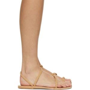 Ancient Greek Sandals Tan Eleftheria Sandals