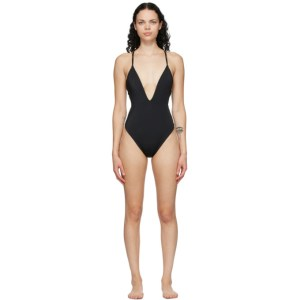 Fendi Reversible Brown and Black Forever Fendi One-Piece Swimsuit