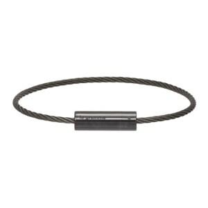 Le Gramme Black Slick Polished Ceramic Le 5 Grammes Cable Bracelet