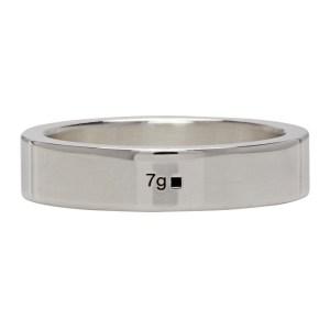 Le Gramme Silver Polished La 7 Grammes Ribbon Ring