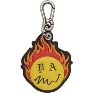 Palm Angels Black Smiley Edition Burning Keychain