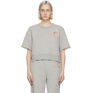 Simon Miller Grey Clio Short Sleeve Sweatshirt