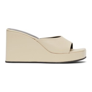 Simon Miller Off-White Level Wedge Sandals