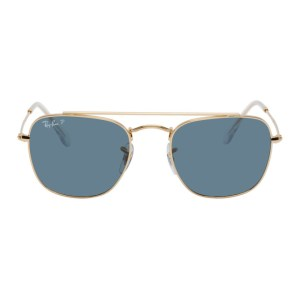 Ray-Ban Gold and Blue RB3557 Sunglasses