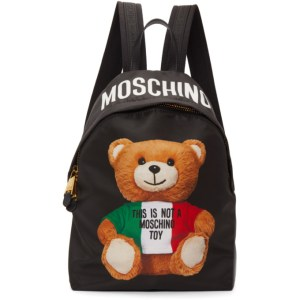 Moschino Black Italian Teddy Backpack