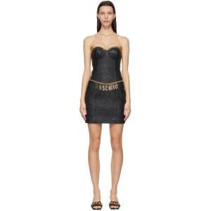 Moschino Black Smiley© Edition Nappa Short Dress