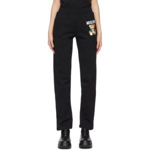 Moschino Black Italian Teddy Bear Lounge Pants