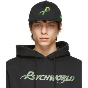 Psychworld Black and Green Logo Cap