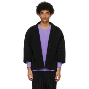 Homme Plisse Issey Miyake Black Monthly Colors October Jacket