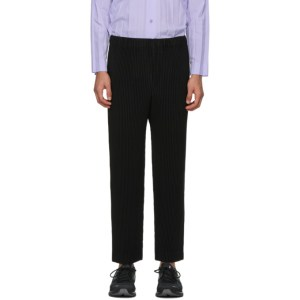 Homme Plisse Issey Miyake Black Monthly Colors November Trousers