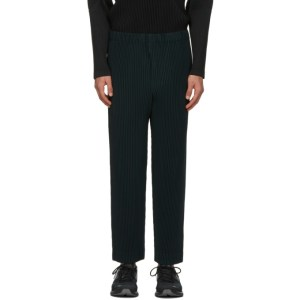 Homme Plisse Issey Miyake Green Monthly Colors November Trousers