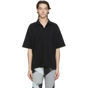 Homme Plisse Issey Miyake Black MC July Short Sleeve Shirt