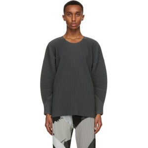 Homme Plisse Issey Miyake Grey Monthly Colors September Long Sleeve T-Shirt