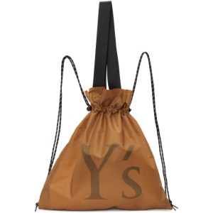 Ys Yellow Nylon Logo Backpack