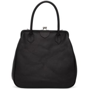 Ys Black Clasp Top Handle Bag
