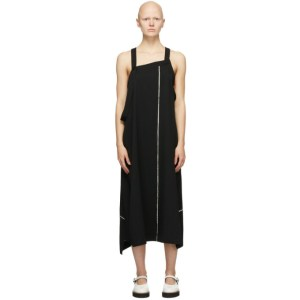 Ys Black Wool Apron Dress