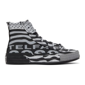 Telfar Black and White Converse Edition Chuck 70 High Sneakers