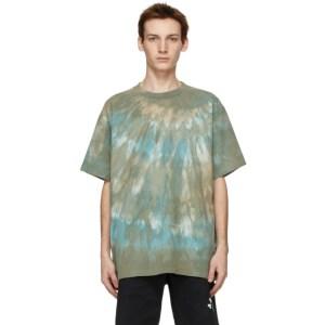 John Elliott Green Tie-Dye University T-Shirt