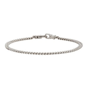 Tom Wood Silver Curb M Bracelet