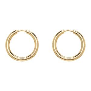 Tom Wood Gold Medium Classic Hoop Earrings